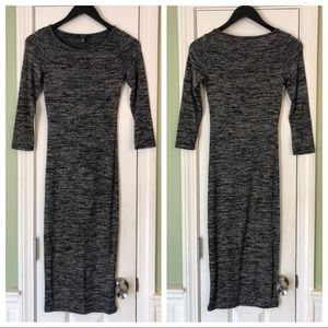 Forever 21 Marled Knit Long Sleeve Bodycon Dress
